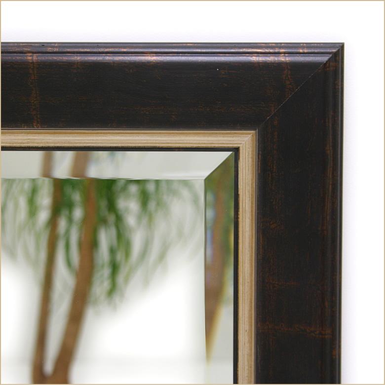 岡本鏡店オリジナルサイズオーダーミラーdu9939brのフレーム拡大写真