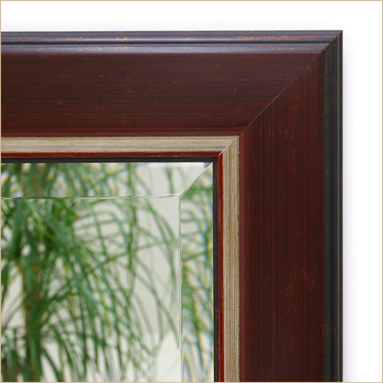 岡本鏡店オリジナルサイズオーダーミラーdu9939reのフレーム拡大写真