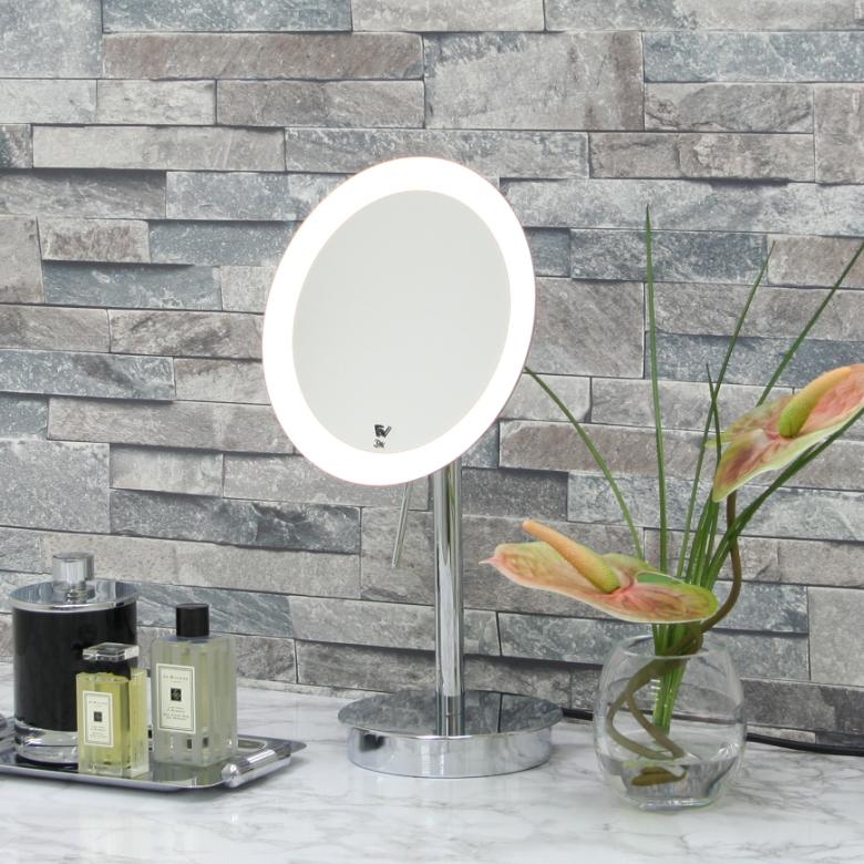 LED照明付き拡大鏡テーブルミラー