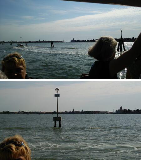 ヴァポレットから洋上を望む