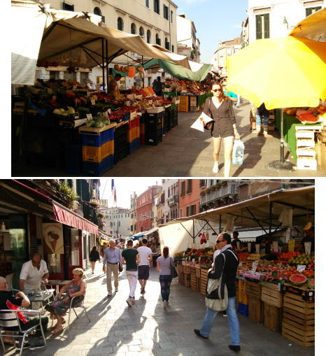 ベネチアの市場